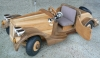 Wooden electric car